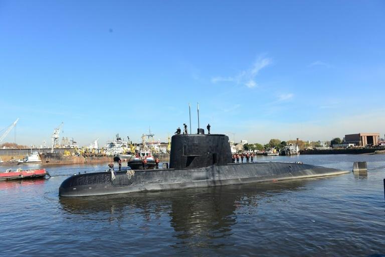 Argentine navy submarine ARA San Juan docked in Buenos Aires in 2014 | © ARGENTINE NAVY/AFP/File | Handout