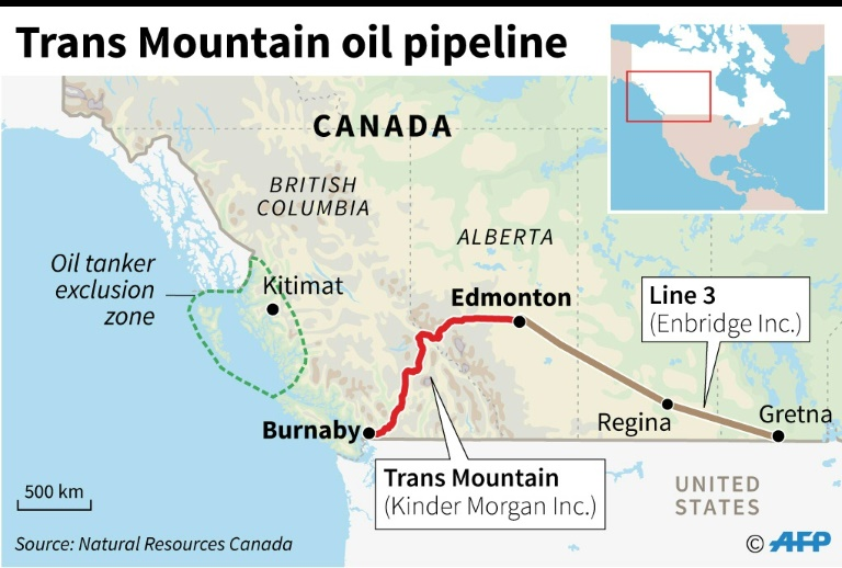 Canada energy regulator gives nod to Pacific pipeline   AFP