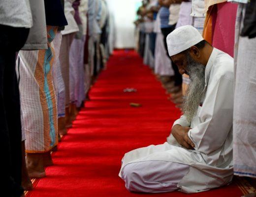 Sri Lanka Muslims pray at vandalised mosques | AFP | Rosebank