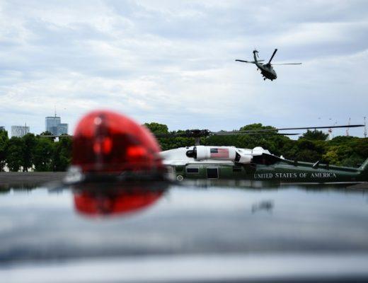 Trump bids Japanese emperor farewell, tours US navy base | AFP