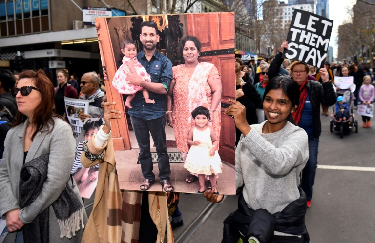 Let them stay': Aussies rally against Tamil family