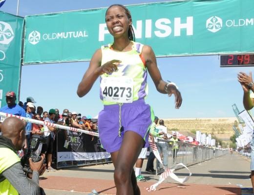 Harriet Chebore took the women's race.