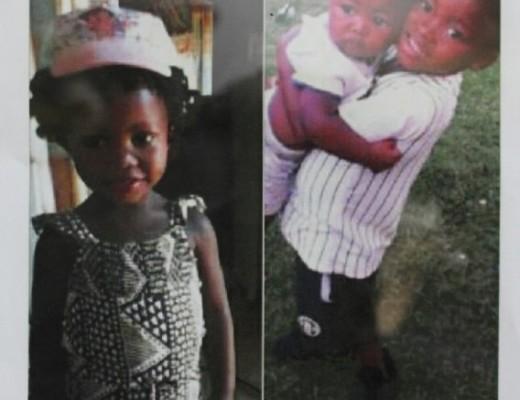 Hamba Kahle Kamogelo (5), Boitumelo (3) and baby Kutlwano
