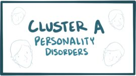 Cluster A personality disorders (paranoid, schizoid, schizotypal)