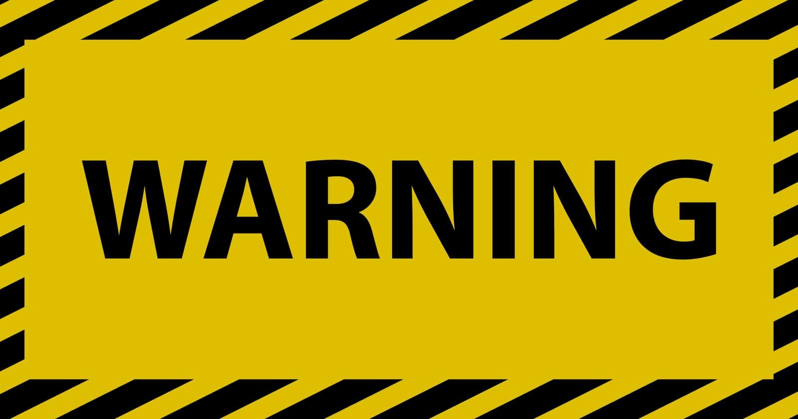Kết quả hình ảnh cho warning