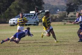 Fochville rugbyklub se spanne draf Saterdag in hul laaste ligawedstryde uit. Dié foto is tydens 'n ander wedstryd vroeër die seissoen teen Lichtenburg geneem.