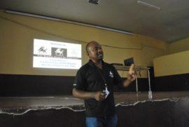John Mosiro during stock market workshop