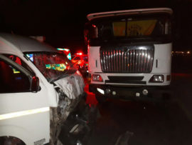 WESTONARIA - Two taxis and truck collide leaving one dead 28 injured 1
