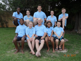 The swimmers who took part in last weekend's event are in front Rameez Mabanga (1km), Minke Rheeder (1km), Gerrie Grove (coach) (400m), Aaliyah Mabanga (1km) and Rory Frazer (400m). At the back are Kealeboga Khoza (1km), Caitlin Doran (1km), Divan Grove (1km), Bianca Janeke (1km) and Julian Rheeder (1km).
