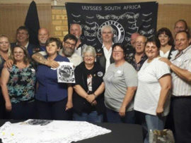 The motorcycling enthusiasts who attended the launch of the new chapter.