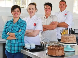 The winning team from the Jhb Culinary and Pastry School is made up of Yolandi Prinsloo (principal), Marikevan Staden (pastry chef), Thea Prinsloo (owner) and Craig Joubert (gastronomist).