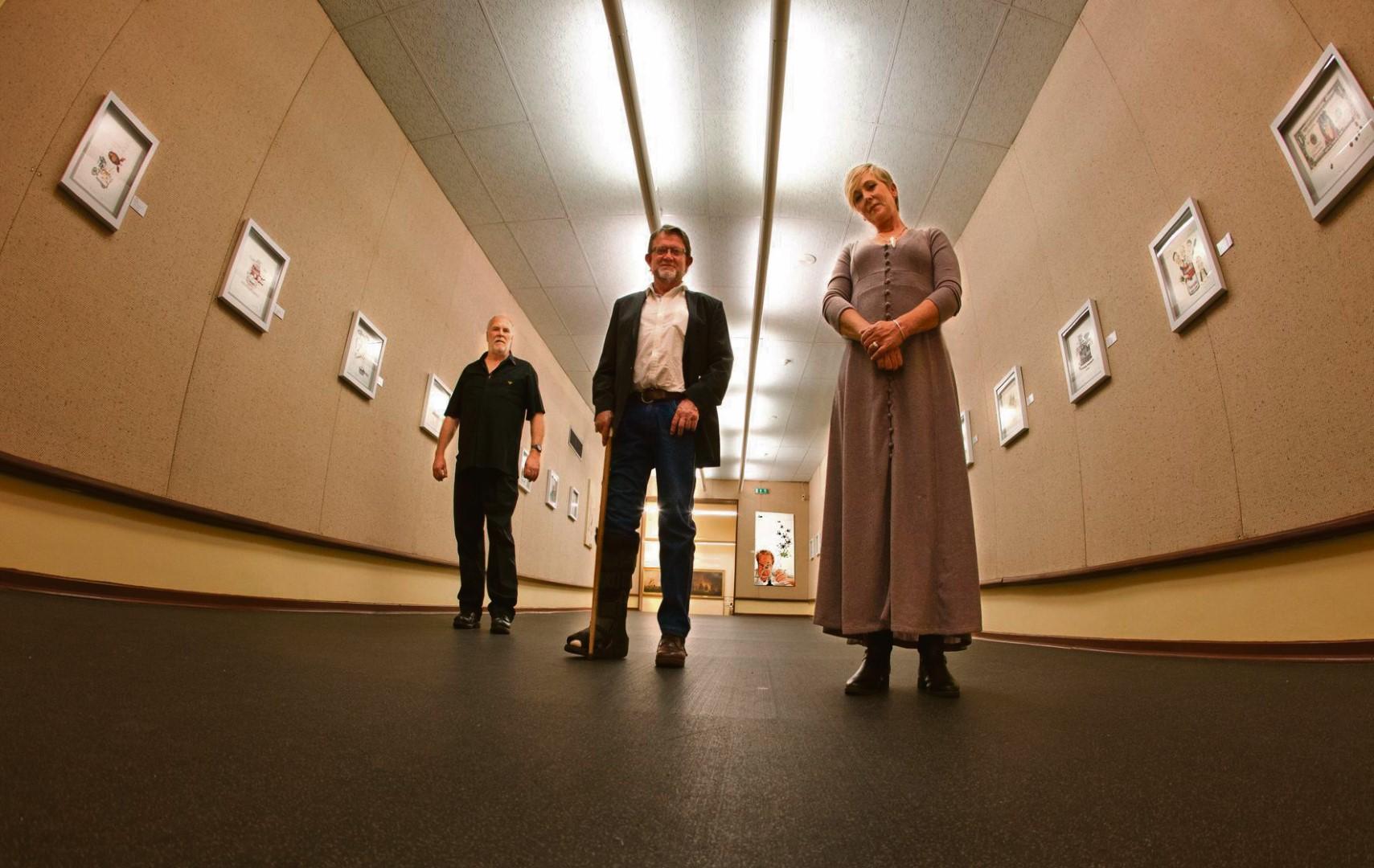 Prof. Attie Gerber, Rowland Daniel and Jody Olën