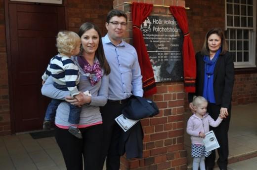 Mev. Elise Swart en haar familie. Foto: Marianke Saayman