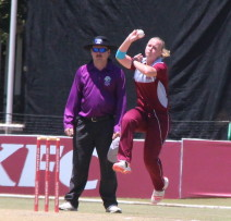 Elriesa Fourie in action.