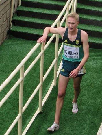 Robert de Villiers by die Wêreldkampioenskappe. Foto: Willie de Villiers.