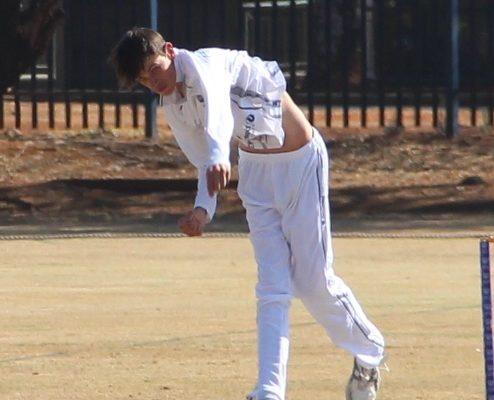 Marco Jansen in aksie met die bal.