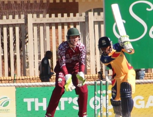 Mangaliso Mosehle made 52 (42) to steer his side to victory against North West in the Africa T20 Cup.