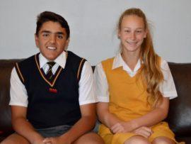 Juniors: Christopher de Freitas (graad 9) en Mardi Swart (graad 8).