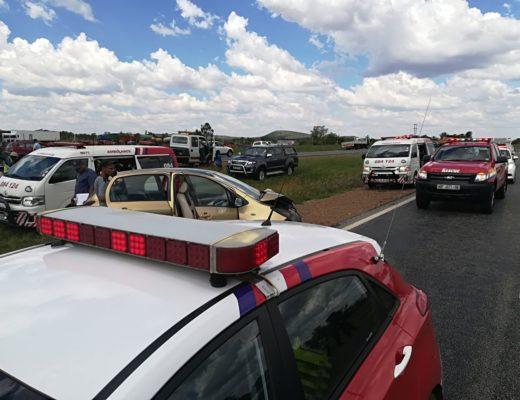 Die toneel van die ongeluk. Foto: ER24