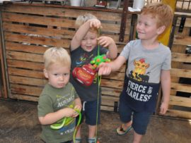 Phillip, Gian en Edrich Labuschagne geniet hul nuwe speelgoed
