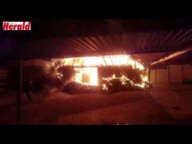 VIDEO: Brandstigting ondersoek na besigheid brand