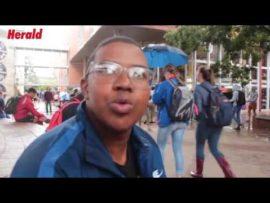 VIDEO: Herald vra studente wat hulle dink van Zuma se bedanking