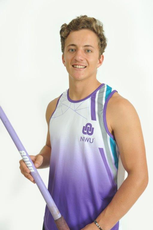 NWU's Johann Grobler surpassed the 80-metre mark in the first leg of the 2018 Varsity Athletics season in Pretoria on Friday, 2 March. His Javelin throw of 80.25 metres is a new Varsity Athletics record. Photo: Leslie Kock/Maclez Studio