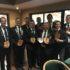 Potchefstroom Buiteklub is die wenners van die Noordwes Gholfunie se Scratch Liga. Van links na regs is: Riaan Swart, Christiaan Burke, Conrad de Swardt, Juan Combrink, Gerrie Badenhorst, Fanie du Plessis (bes tuurder), AJ du Plessis (kaptein), Christo Peens en Albert Britz