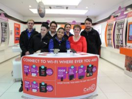 The friendly staff of Cell C Mooirivier Mall are always happy to help. Photo: Marianke Saayman