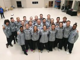 The NWU Karate team who took an impressive 19th consective USSA-title