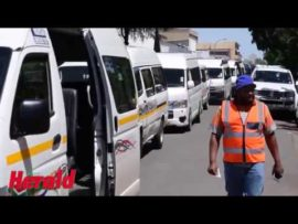 VIDEO: Taxi owners march against illegal taxis in Potchefstroom