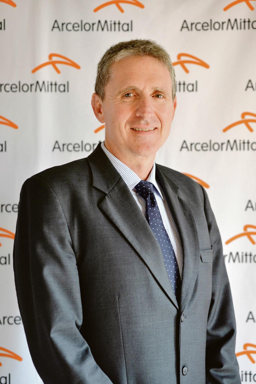 Mr Paul O' Flaherty, CEO of ArcelorMittal SA. Photo: A. Douwenga, Mardo Photos