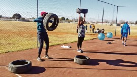 Survival of the Fittest at Boot Camp that takes places at the Saul Tsotetsi Sports Complex in Zone 14, Sebokeng, every Saturday from 08:00 - 10:00.