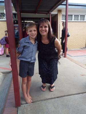Christiaan Schoeman en mamma Junita, Emfulenipark