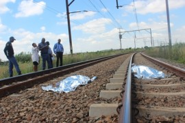 A young man threw himself in front of a moving train in Residensia recently. Photo: Lazarus Dithagiso