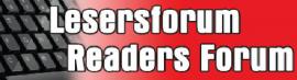 Lesersforum Readers Forum