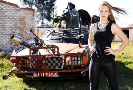 Regs: Sasolburg-model, Nickey Alberts en Mad Max. Foto's: Schalk le Roux