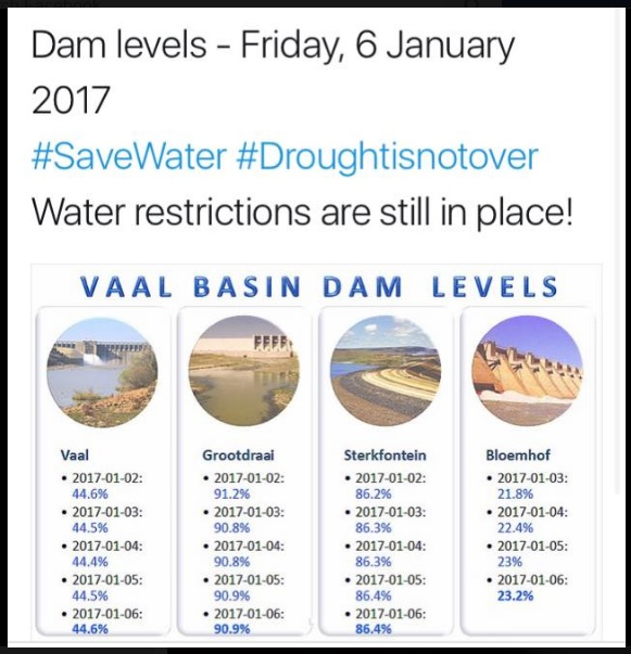 Damvlakke tot 6-1-2017