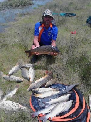 Die hengelaar van die naweek was Danie Henning met 30 vis van 41.63 kg