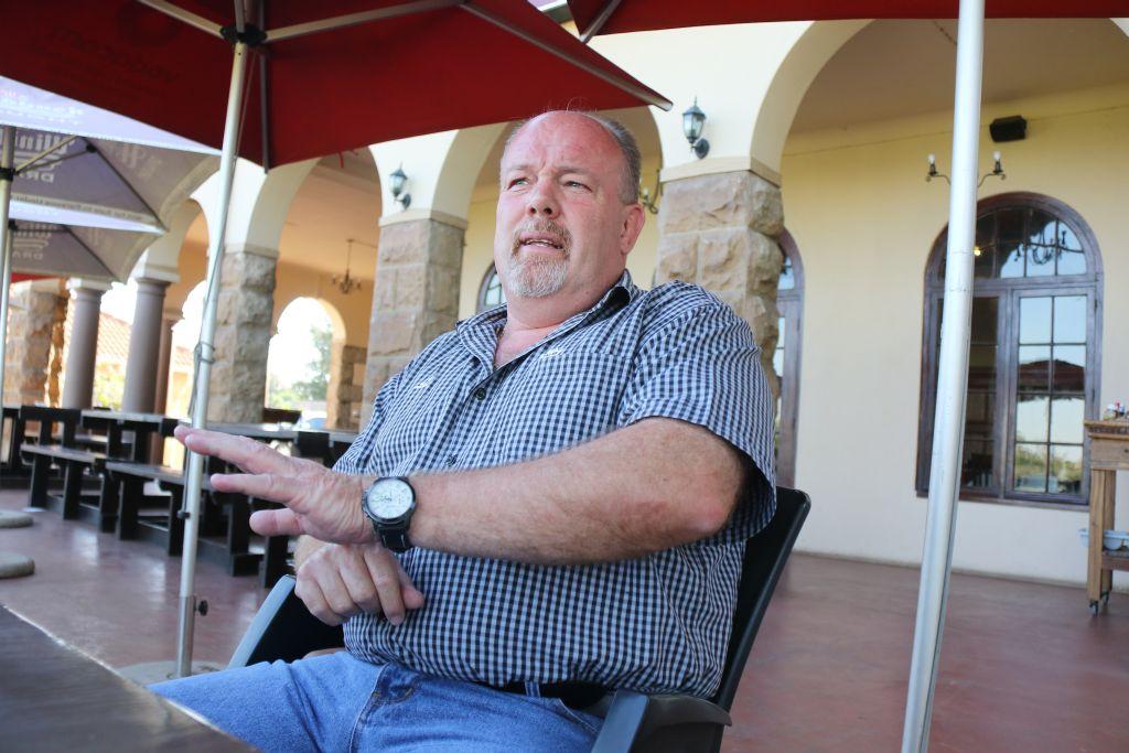 Jan Wiegand, waarnemende president van die Valke-rugbyunie