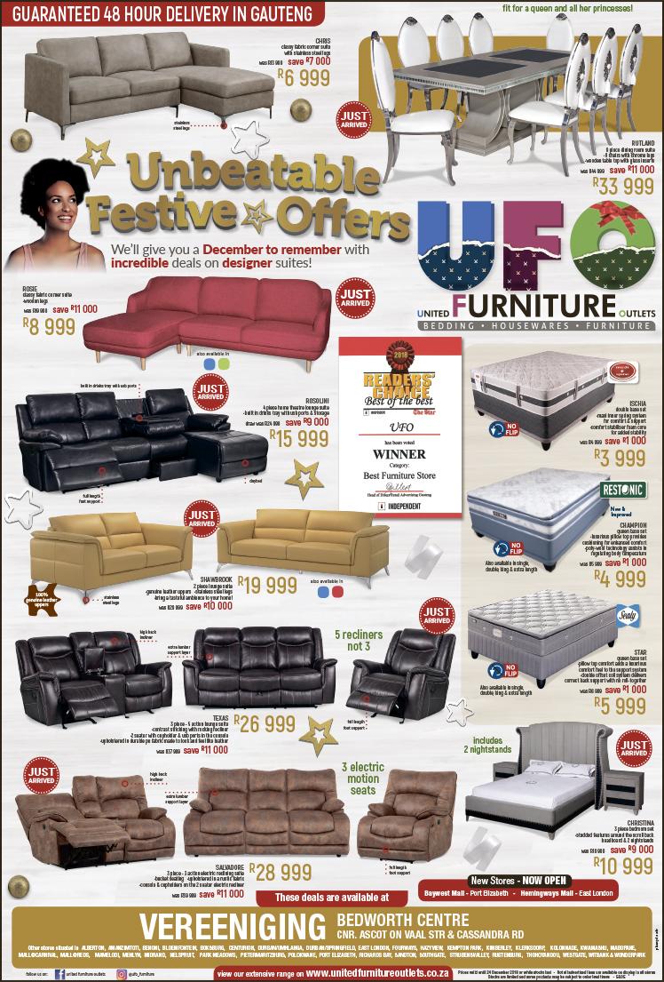 Ufo Furniture Outlets Vaalweekblad