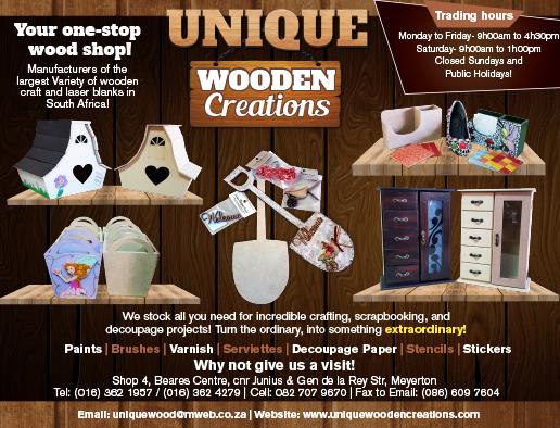 Unique Wooden creations. - vaalweekblad