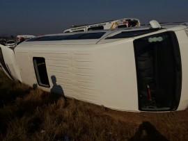 fifteen people were inside the vehicle.