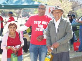 resized Mr. C. S. Mudali Principal of Jiswa School & the veteran stars of the walk