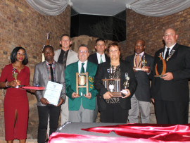 The top performers of HMSC: Spr V Mkhono (Road Running), Spr G TC Managa (Soccer), WO1 A Botha (Combat Rifle), WO2 A Kachelhoffer (Combat Rifile), Lt N Krahtz (Best sport unit 2016), Sgt S Dunbar (Combat Rifle), Sgt S Mokela (Golf), Maj T Jacobs (Golf)
