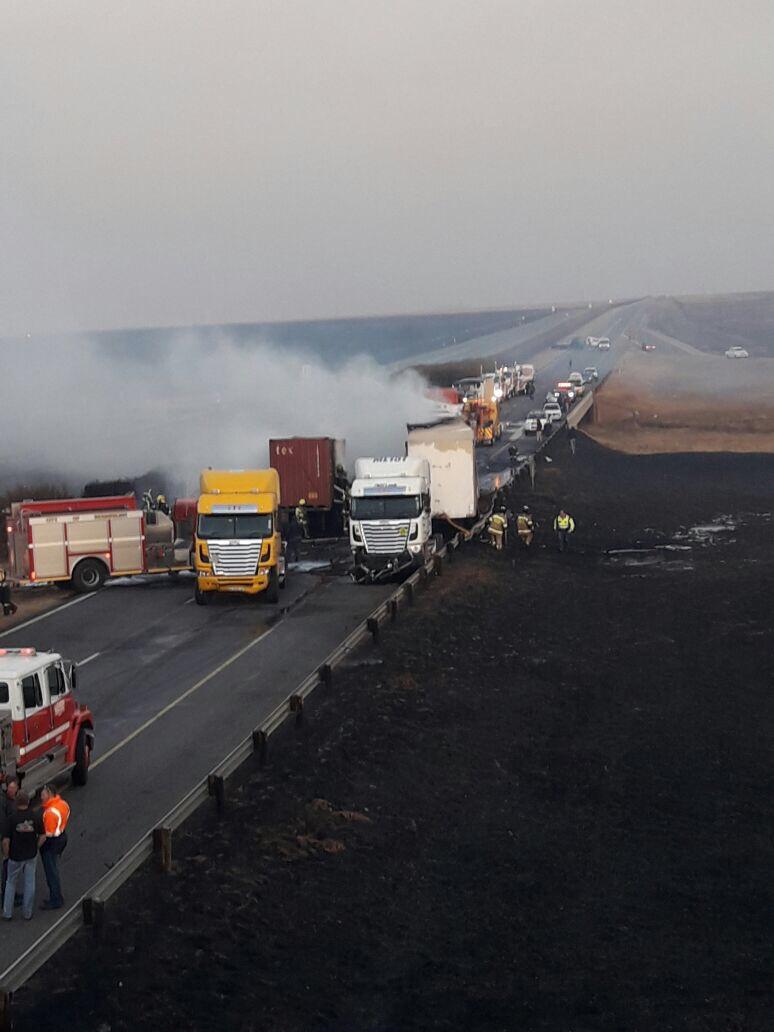 Photo Gallery: Carnage as trucks, cars collide on N3 | Heidelberg