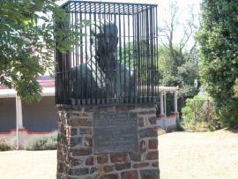 Een van Heidelberg se bekendste landmerke agter tralies