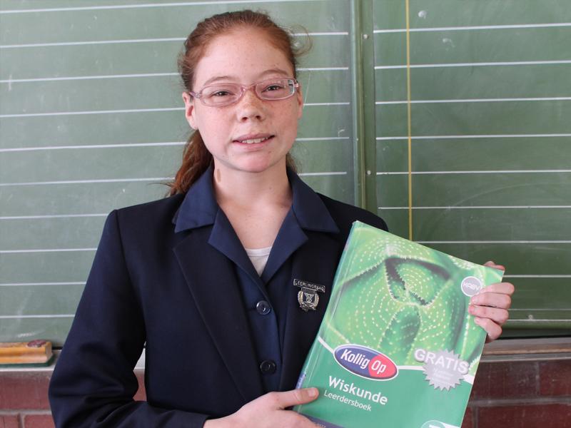 Alicia Norman is 'n nuwe Graad 6-leerder by Laerskool Tini Vorster