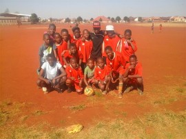 Winners, Bayern beat their rivals Marimba FC 5-4 during a fun-filled socer thriller at the Extention 4 Sports Ground in Vosloorus