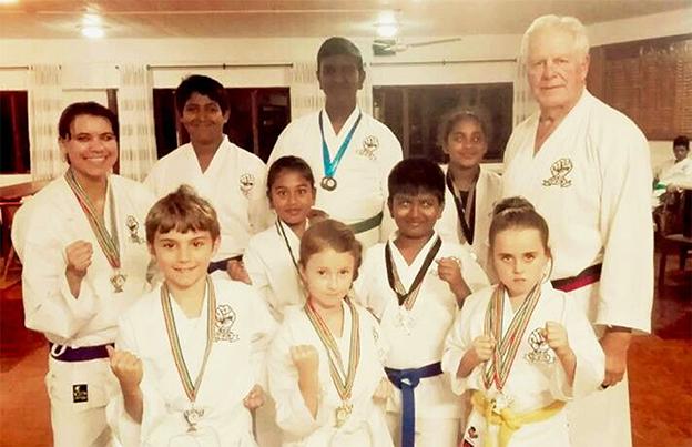 Umdoni Goju Kai Club in the medals
